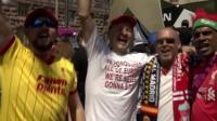 Liverpool fans in Kiev