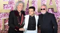 Brian May, Rami Malek + Roger Taylor