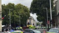 Police cars near Natural History Museum