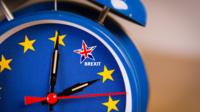 Clock with Brexit on it