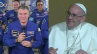ISS crew and the Pope
