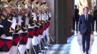 Emmanuel Macron in Versailles