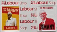 Corbyn posters at the Labour conference