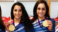 Aly Raisman and Jordyn Wieber.