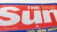 Copy of the Sun newspaper