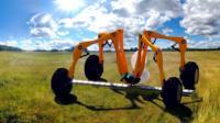 robot in field