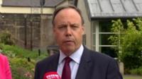 DUP MP Nigel Dodds speaks at Stormont