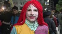 Man in Halloween costume
