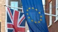 Union Jack and European flag