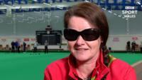 Welsh bowler Julie Thomas