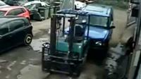 CCTV footage of crash