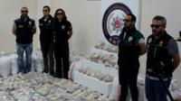 Authorities were tipped off that a cargo ship bound for Turkey was smuggling heroin.