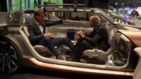 Theo Leggett and Renault engineer