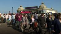 Crowds on the pier