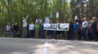 Pondtail Wood protest