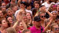 Crowds at Glastonbury