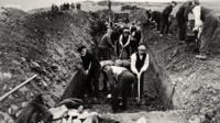Graves are dug on Islay