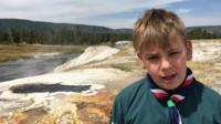 Scout in Yellowstone Park