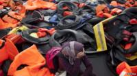 Lifejackets on Greek island of Lesbos