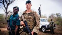 British soldier Lance Corporal Jamie Knott in Malawi
