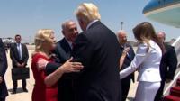 Benjamin Netanyahu welcomes Donald Trump