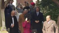 The Royal Family leaving church