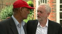 Jeremy Corbyn on visit to London tower fire