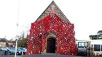 The poppies across the church