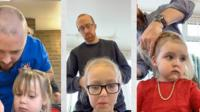 Отцов учат заплетать косички, расчесывать волосы и делать хвосты.