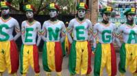 Senegal football fans