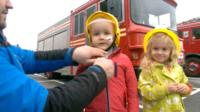 Children dressed as fire women