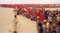 The Green March in Spanish Sahara, Morocco