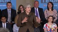 Theresa May speaking in Harrow