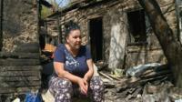 Рузанна Багдасарян на руинах своего дома