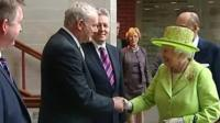 Martin McGuinness with the Queen