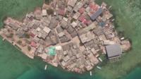 A view of Santa Cruz del Islote from the air