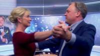 Carol Kirkwood and Ed Balls