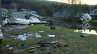 Devastated homes in Scotland