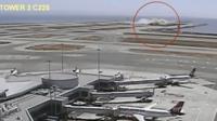 Камеры наблюдения зафиксировали момент крушения самолета Asiana Airlines в 2013 году в Сан-Франциско.