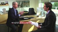Apple boss Tim Cook in an interview with ABC News on 24 February