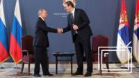 Встреча Путина и Вучича