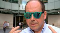 Rory Cellan-Jones in Snap Spectacles