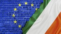 EU logo and Irish flag