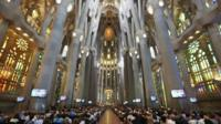 Service for Barcelona attack victims inside the Sagrada Familia cathedral - 20 August 2017