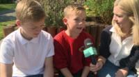 Kids chatting
