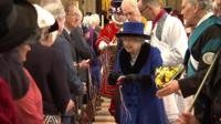 The Queen hands out Maundy money