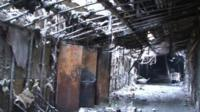 Gutted interior of Kemerovo leisure complex