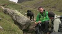 Matt, picking up litter on Scafell Pike
