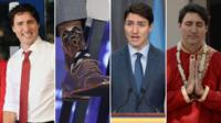 Four images of Justin Trudeau