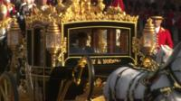 Chinese in gilt horse and carriage with Queen during state visit